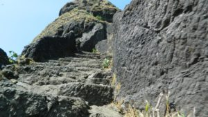 Salher fort rock-cut stairs